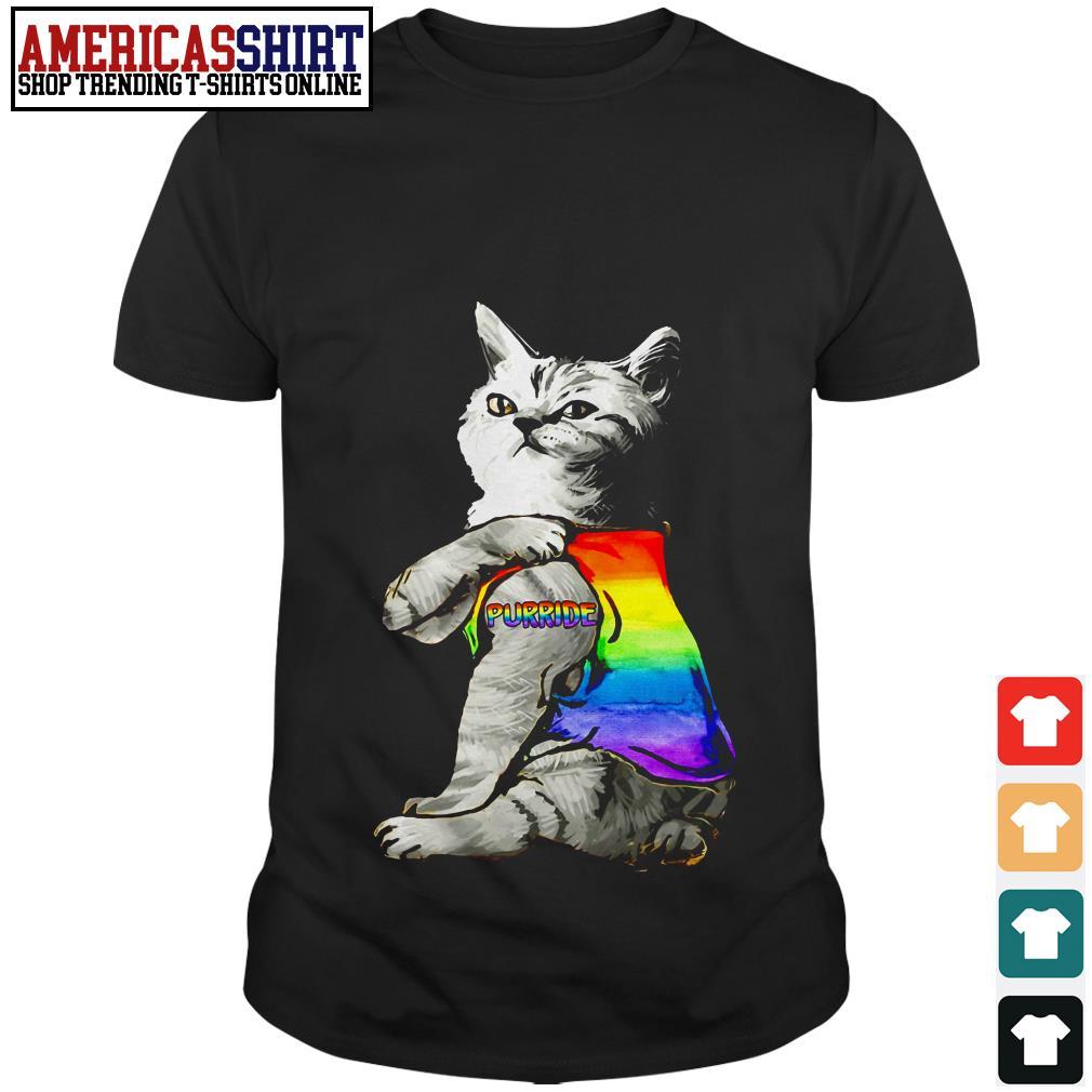 Cat tattoos purride LGBT shirt
