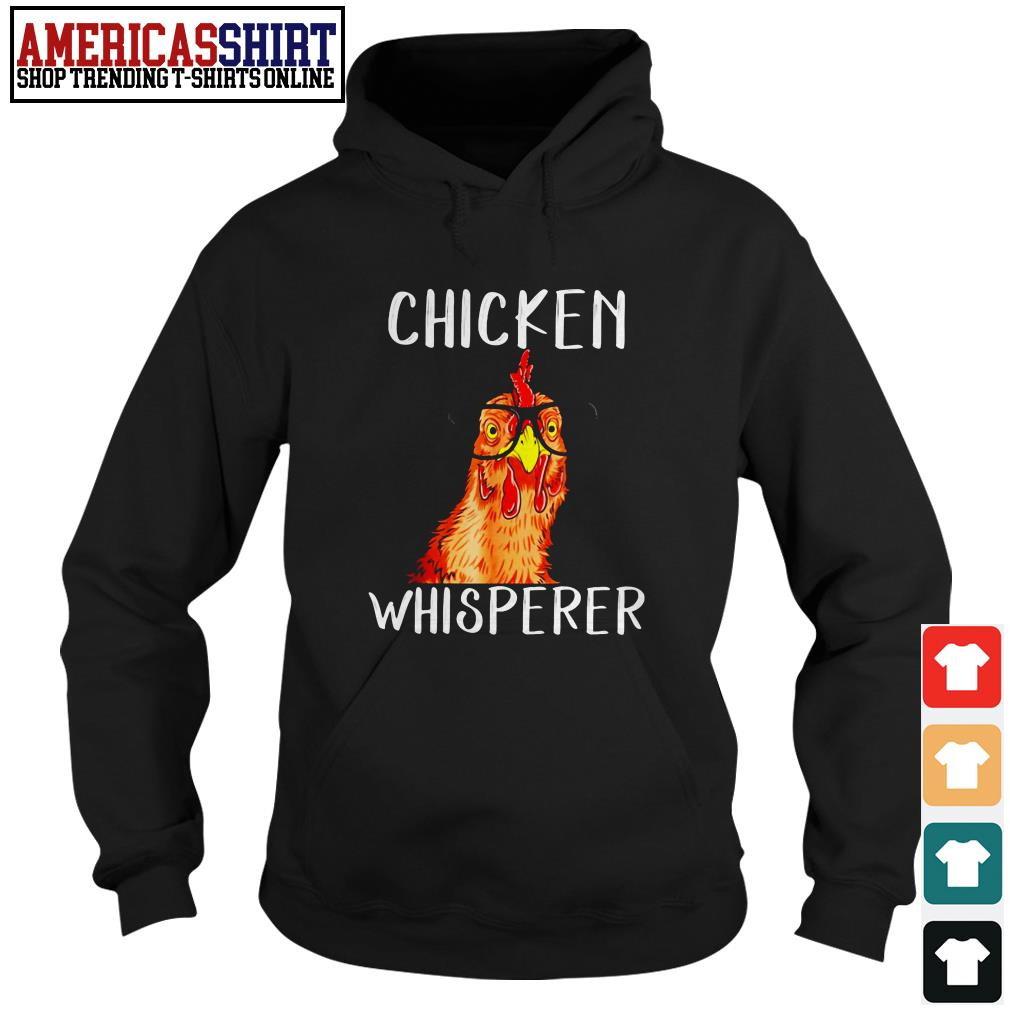 Chicken whisperer wearing glasses Hoodie