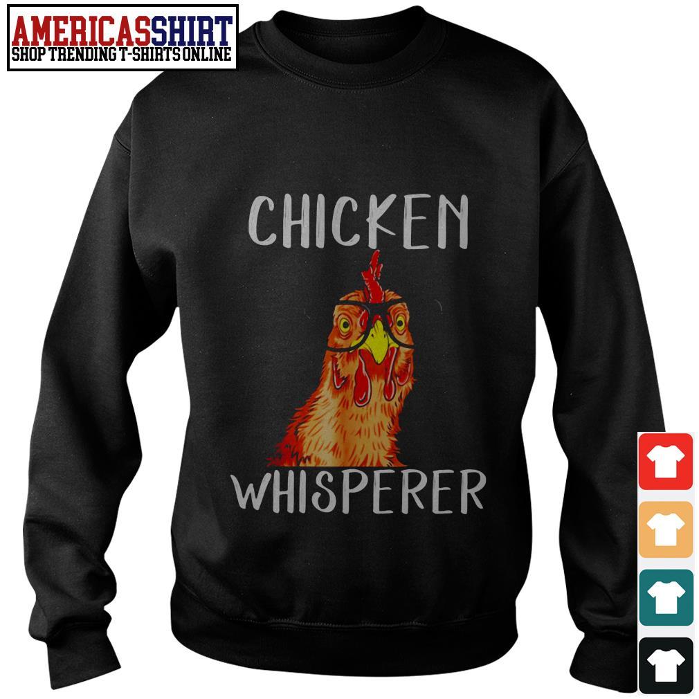 Chicken whisperer wearing glasses Sweater