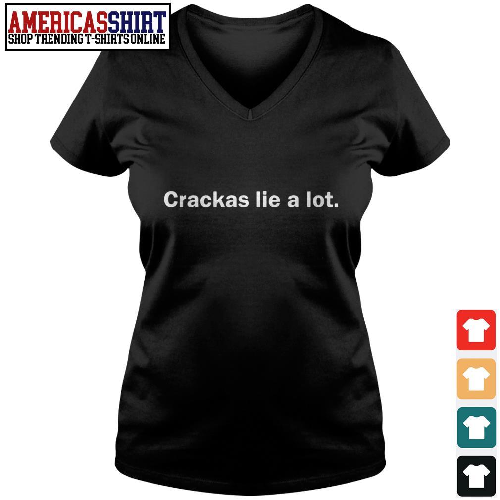 Crackas lie a lot V-neck T-shirt