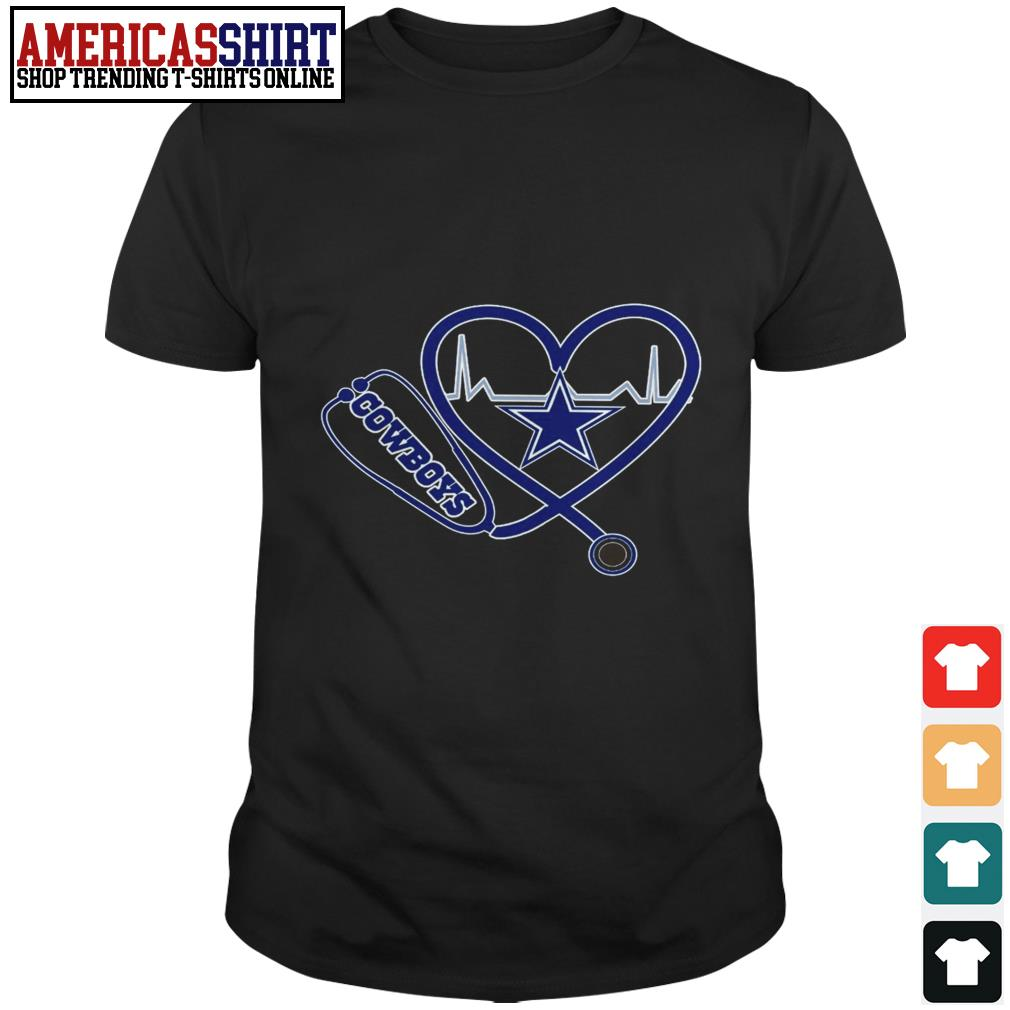 Dallas Cowboys Stethoscope heart shirt