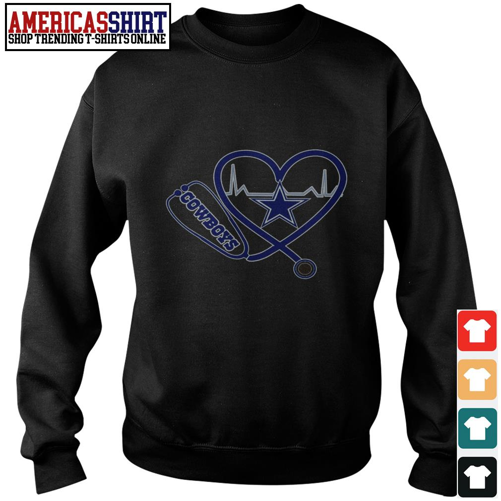 Dallas Cowboys Stethoscope heart Sweater