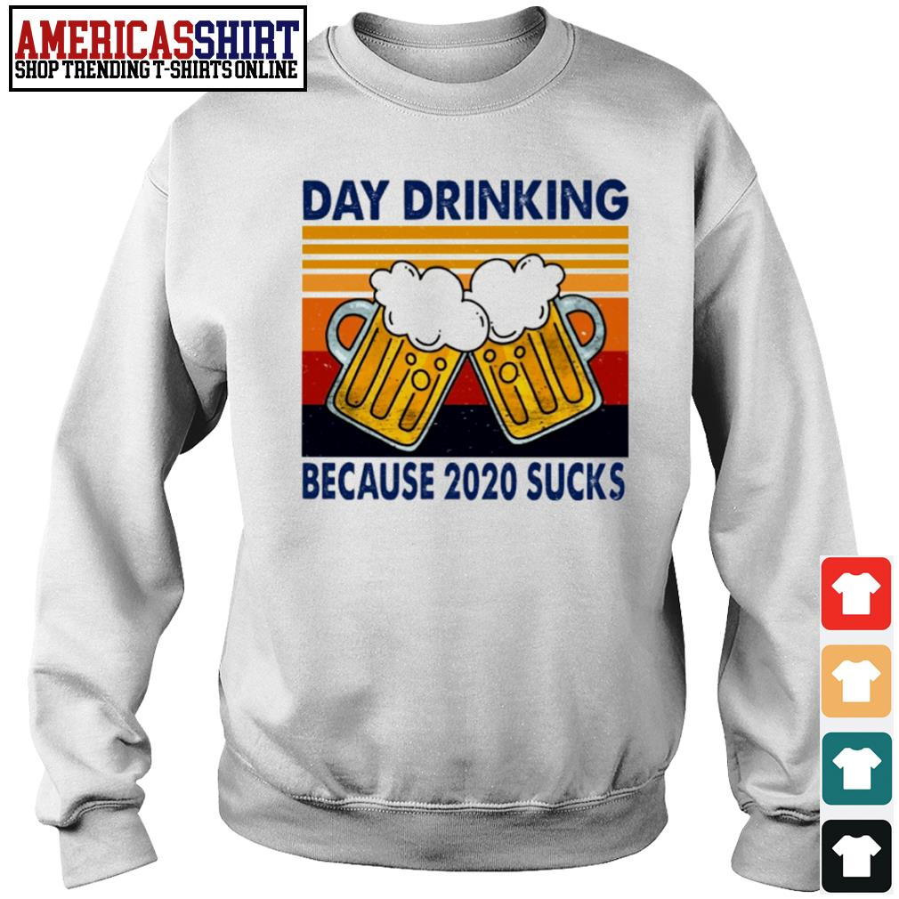Day drinking beer because 2020 sucks vintage s sweater