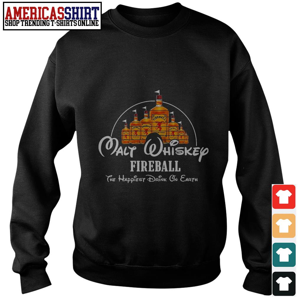 Disney Malt Whiskey Fireball the happiest drink on earth Sweater