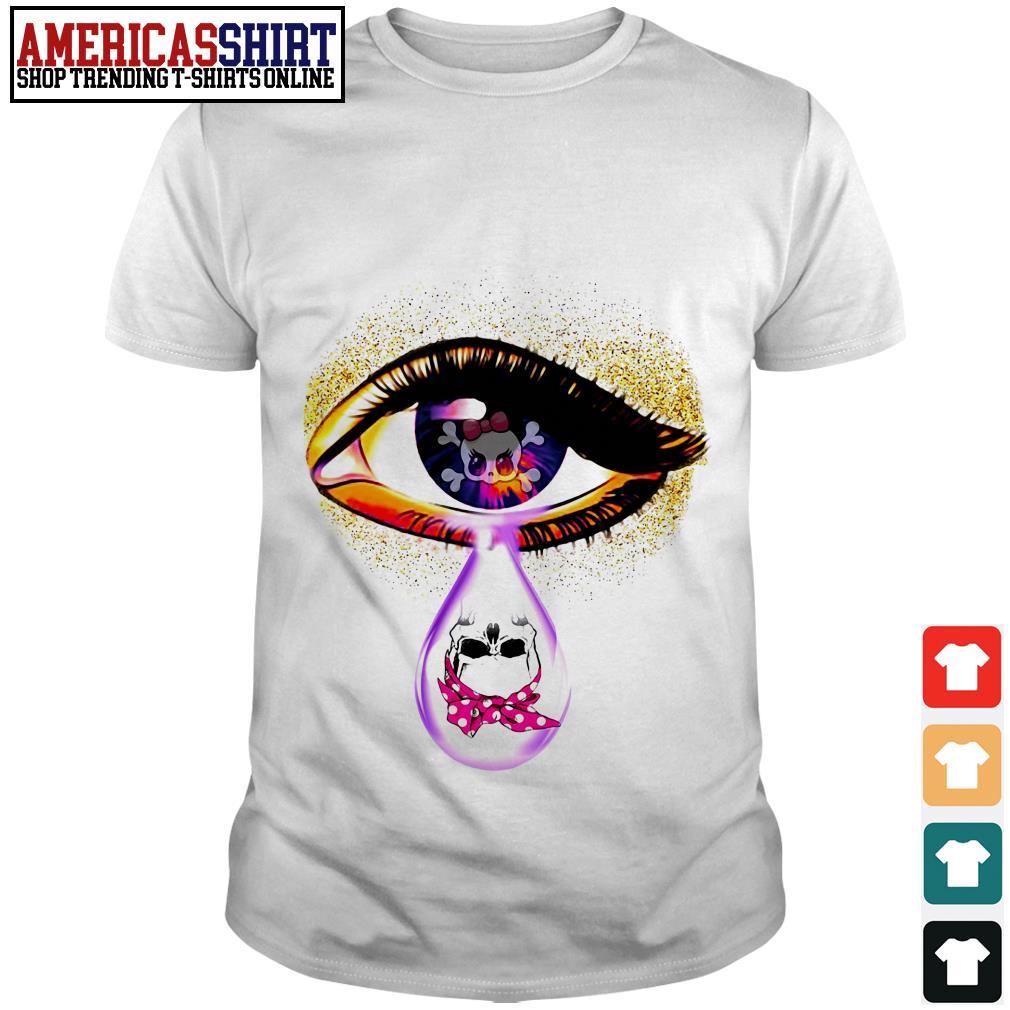Eye skull tear shirt