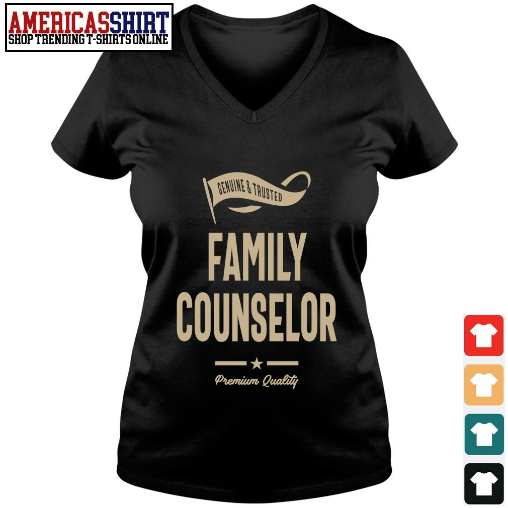 Genuine and trusted family counselor premium quality s v-neck t-shirt