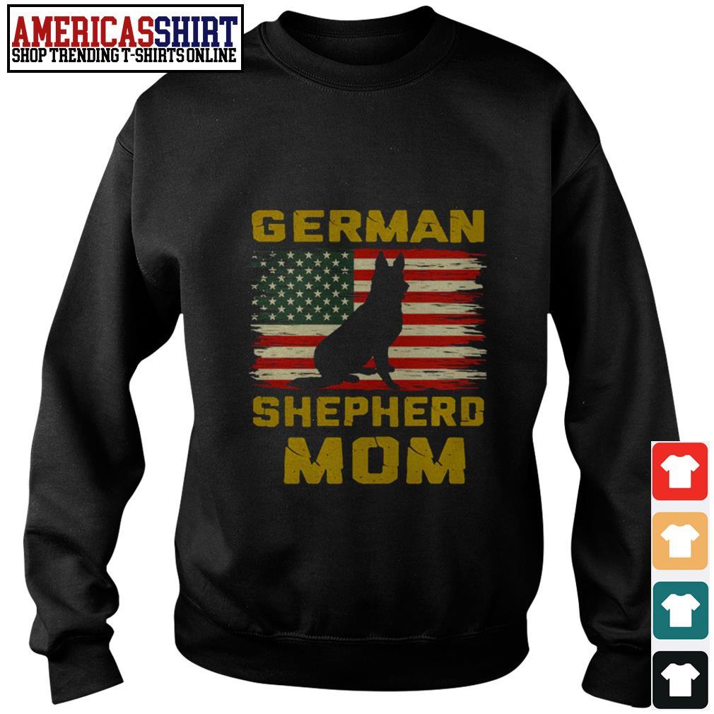 German Shepherd mom American flag Sweater