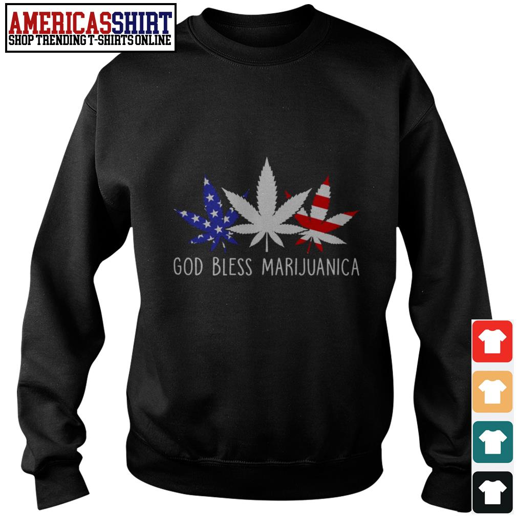 God bless marijuanica American flag Sweater