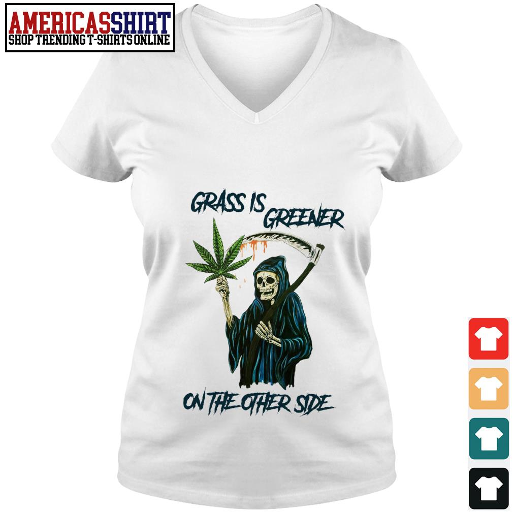 Grass is greener on the other side V-neck T-shirt