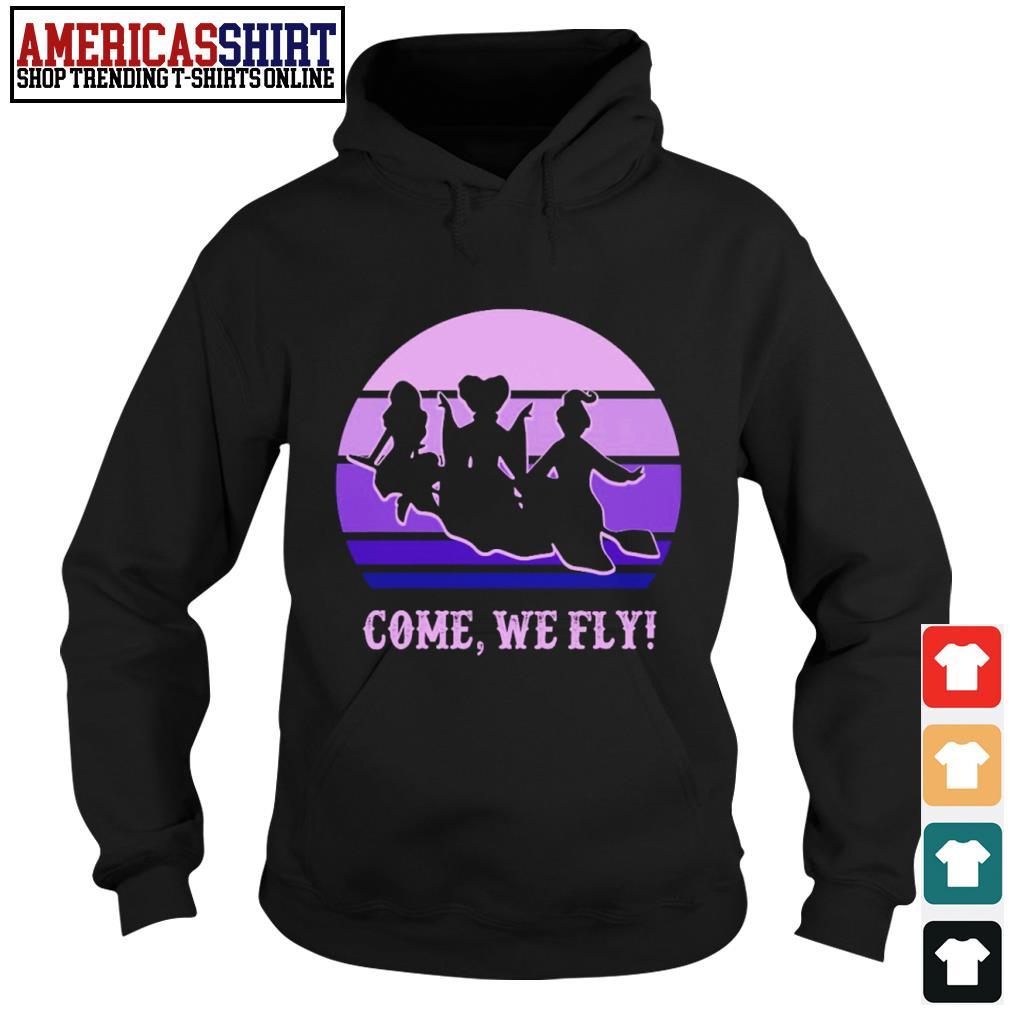 Halloween Hocus Pocus come we fly vintage s hoodie