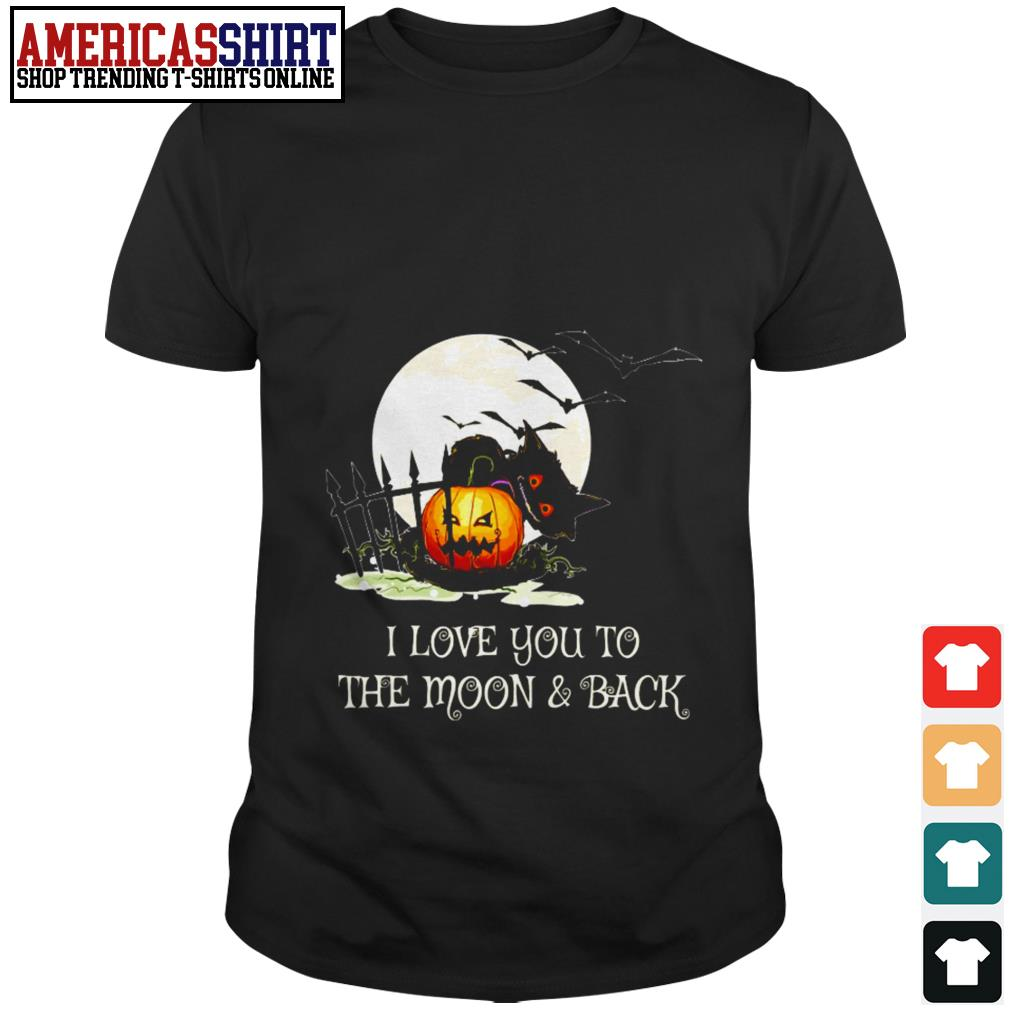 Halloween I love you to the moon and back shirt