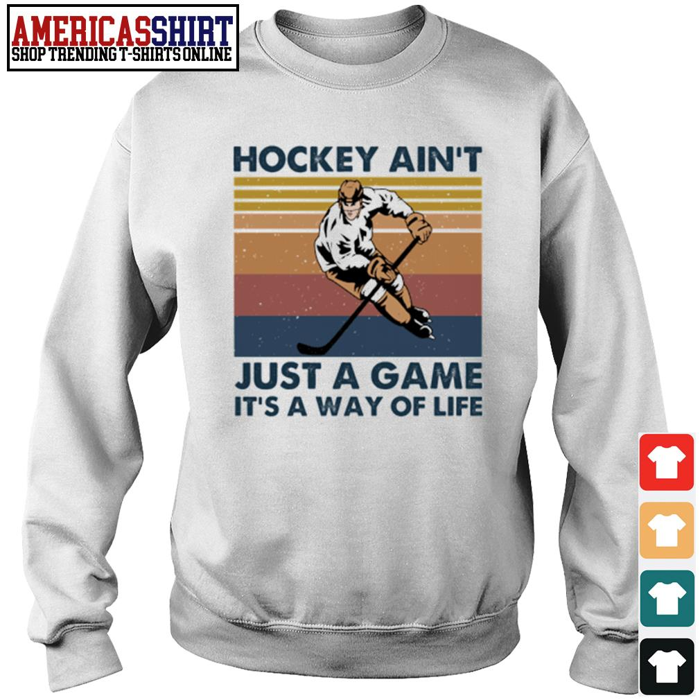 Hockey ain't just a game it's a way of life vintage s sweater