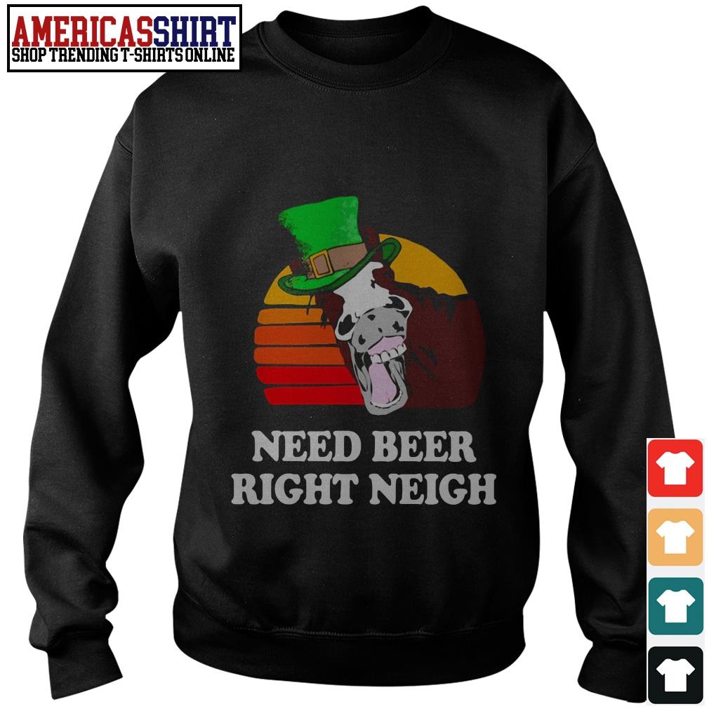 Horse need beer right neigh vintage Sweater