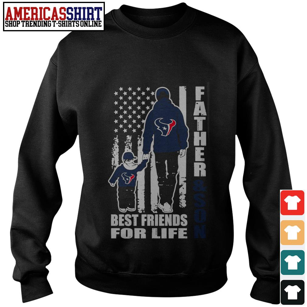 Houston Texans Father and son best friends for life Sweater