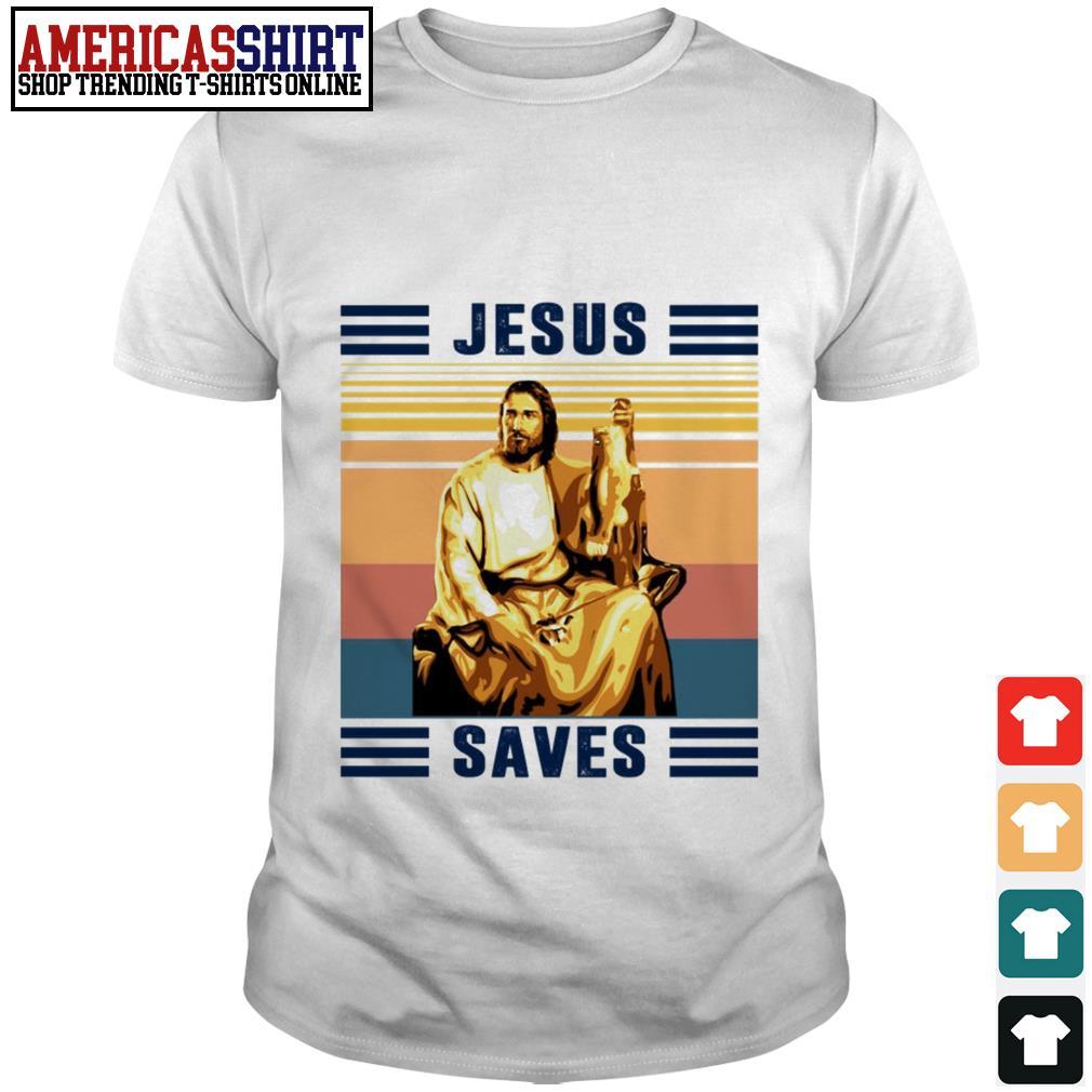 Jesus saves vintage shirt
