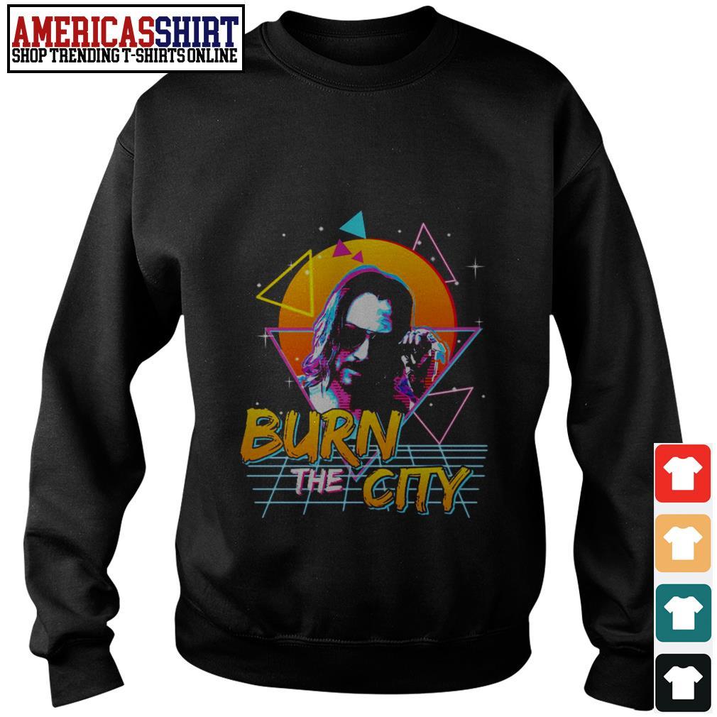 John Wick Cyberpunk 2077 burn the city Sweater