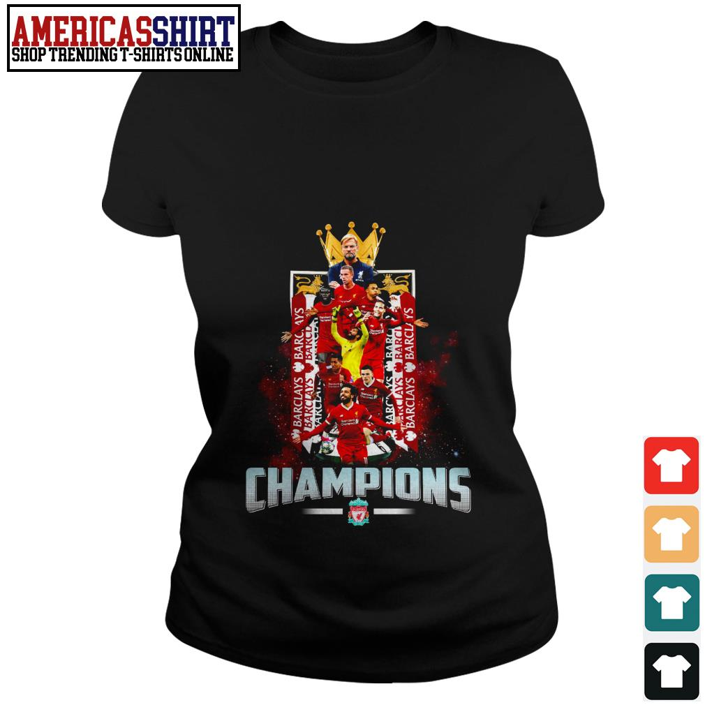 Liverpool FC Champions English Premier League Ladies Tee