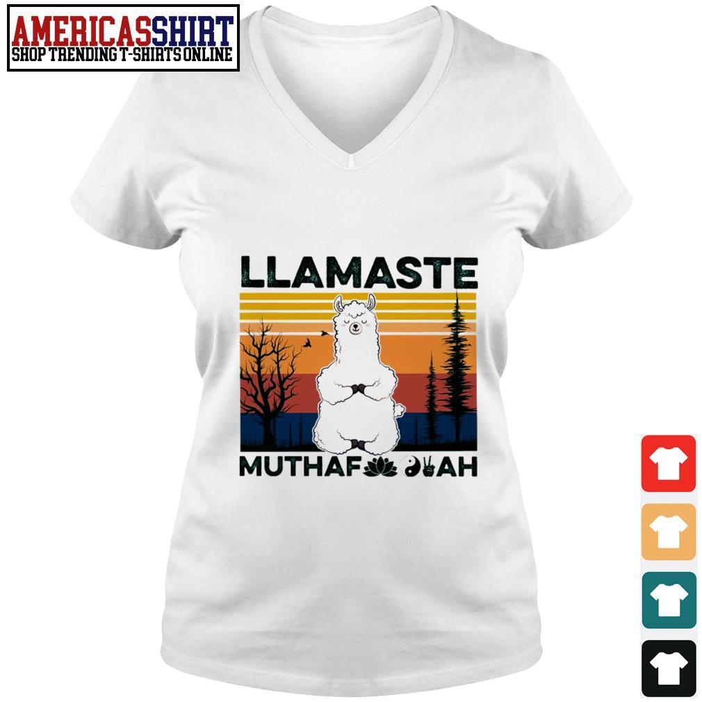 Llamaste muthaf ah vintage V-neck T-shirt