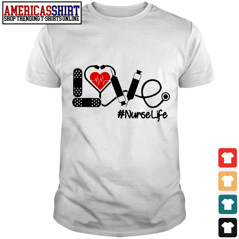 Love nurselife stethoscope shirt