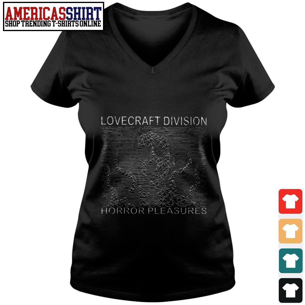 Lovecraft division horror pleasures V-neck T-shirt