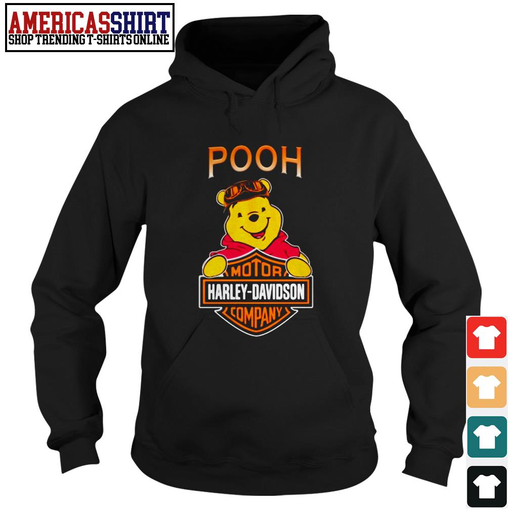 Pooh mashup motor Harley-Davidson company Hoodie