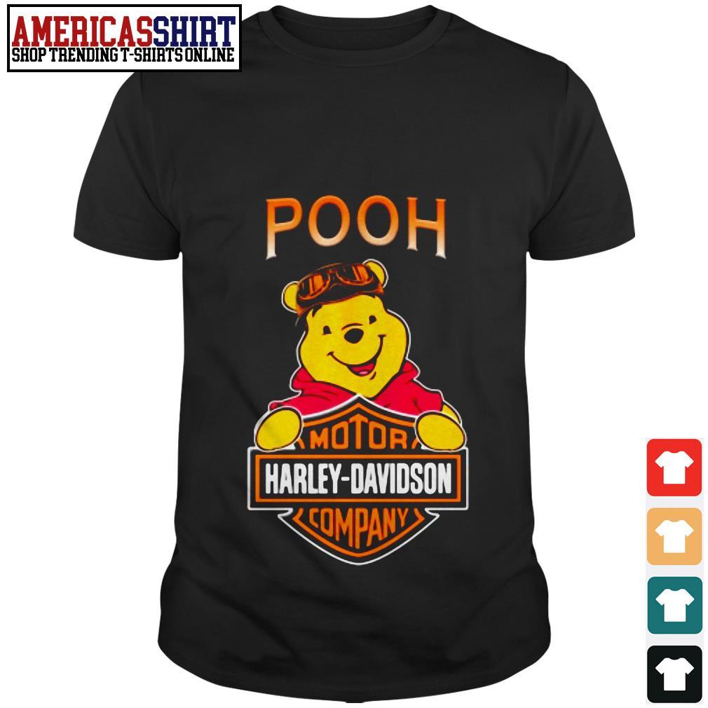 Pooh mashup motor Harley-Davidson company shirt