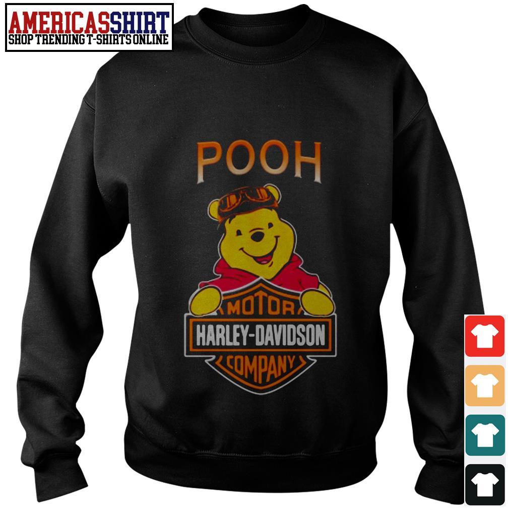 Pooh mashup motor Harley-Davidson company Sweater