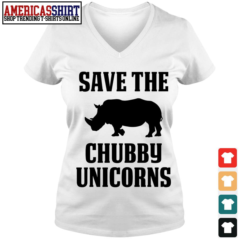Save the chubby unicorns s v-neck t-shirt