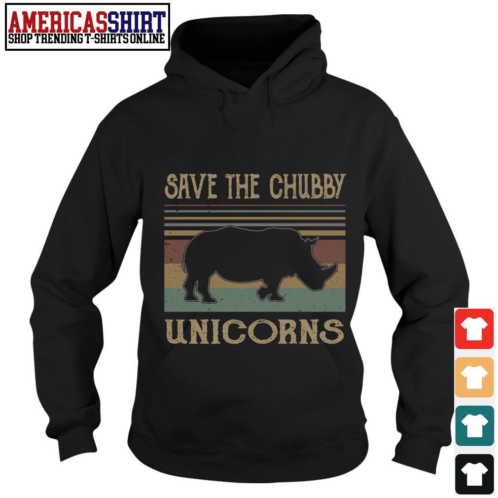 Save the chubby unicorns vintage s hoodie