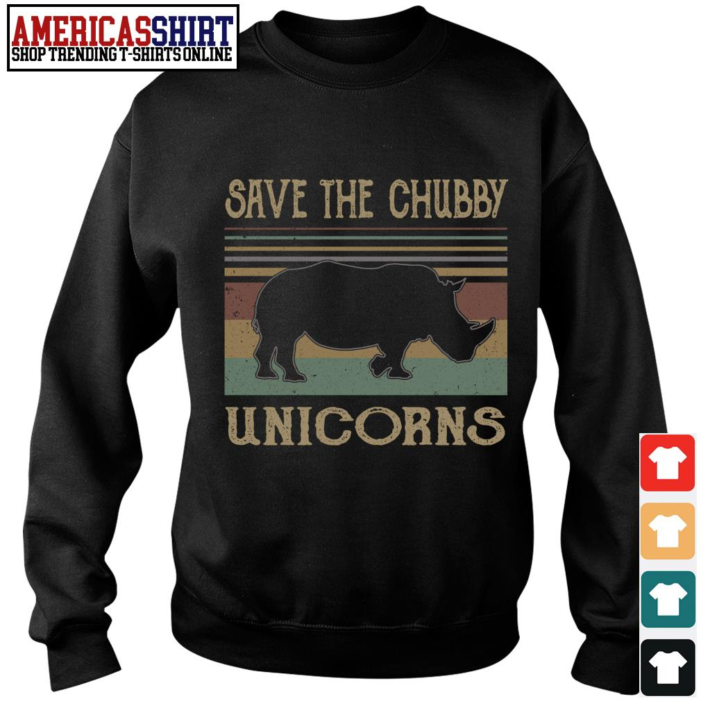 Save the chubby unicorns vintage s sweater